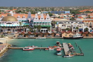 Aruba's colorful port