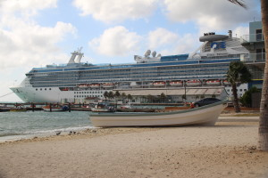 Coral Princess Docked in Aruba