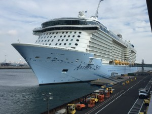 Anthem of the Seas docked at Cape Liberty