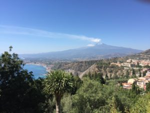 View of Mt. Etna from Taormina