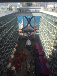 Harmony of the Seas has two 10-story slides overlooking Boardwalk
